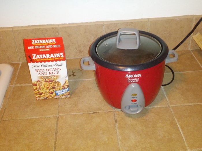 zatarains in the rice cooker